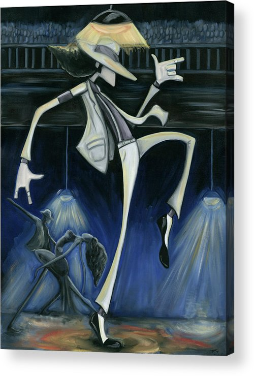 Smooth Acrylic Print featuring the painting Smooth Criminal by Tu-Kwon Thomas