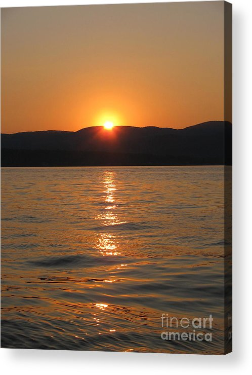 Lake Acrylic Print featuring the photograph Summer Sunset by Nancie Johnson