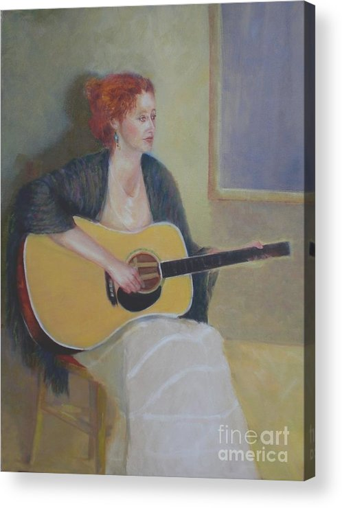 Female Figure Acrylic Print featuring the painting The Irish Singer  Copyrighted by Kathleen Hoekstra