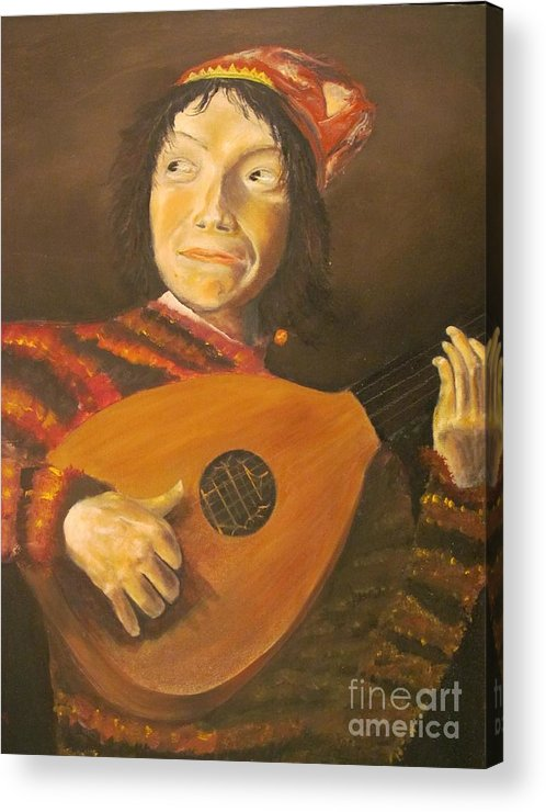 The Jester By Judith Leyster - Replicated Acrylic Print