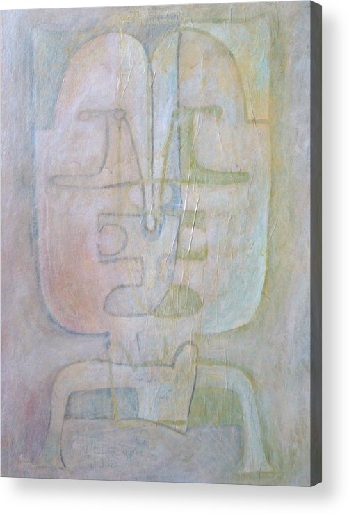 Abstract Faces Acrylic Print featuring the painting Till We Have Faces by W Todd Durrance