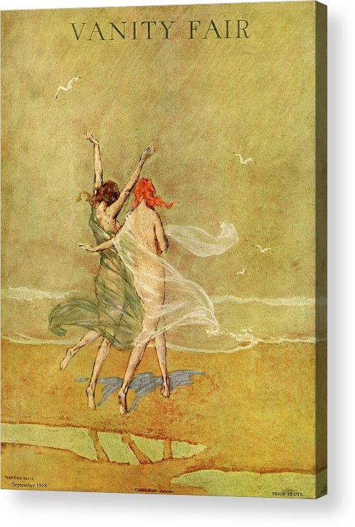 Illustration Acrylic Print featuring the photograph Vanity Fair Cover Featuring Two Nymphs by Warren Davis