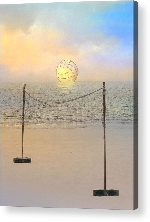 Volleyball Acrylic Print featuring the photograph Volleyball Sunset by Stephen Warren