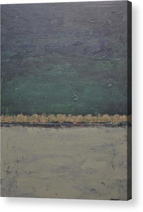 Rectangular Acrylic Print featuring the painting Yonder Creek by Jim Ellis