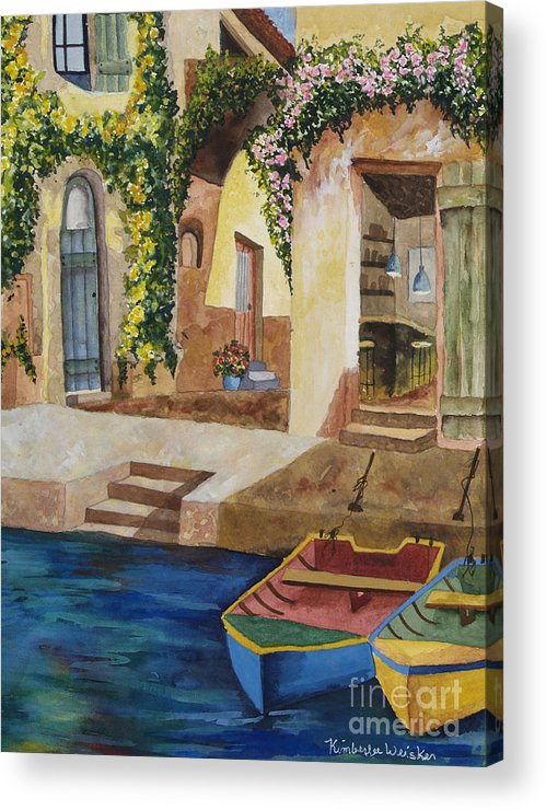 Authentic Inspiration Acrylic Print featuring the painting Afternoon At The Piazzo by Kimberlee Weisker