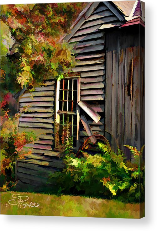 Shed Acrylic Print featuring the painting Shed by Suni Roveto
