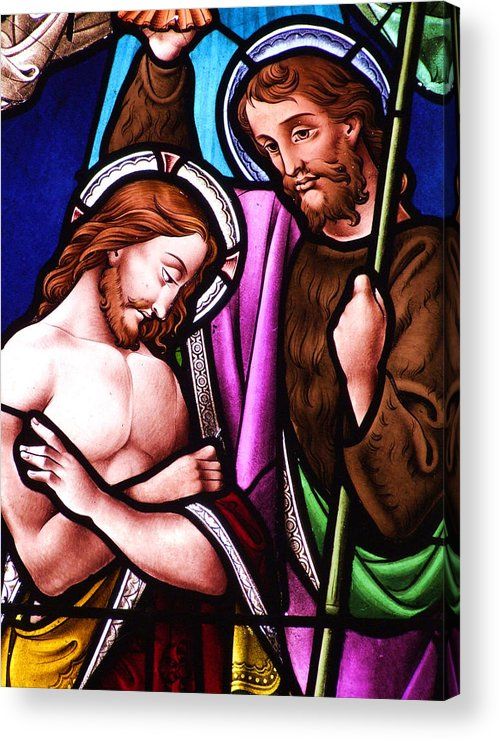Jesus Acrylic Print featuring the photograph Baptism by Munir Alawi