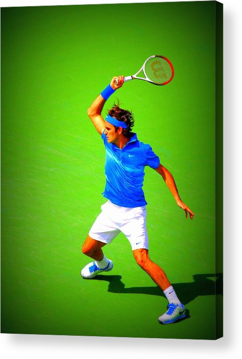 Acrylic Print featuring the photograph Tennis Art by Carl Schroeder III