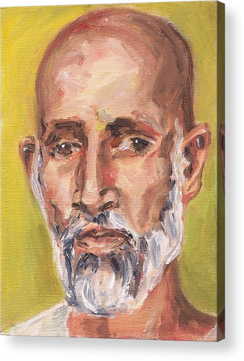 Portrait Acrylic Print featuring the painting Babji by Sophie Brunet