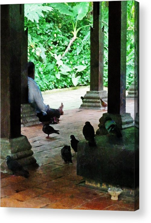 Commune Acrylic Print featuring the photograph Communing With The Birds by Steve Taylor