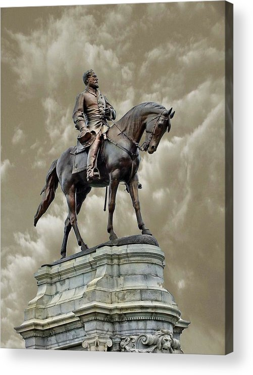 Statues Acrylic Print featuring the photograph General Robert E. Lee by Rick Davis