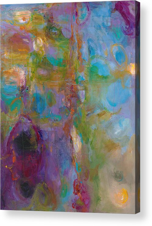 Abstract Expressionistic Acrylic Print featuring the painting Infinite Tranquility by Johnathan Harris