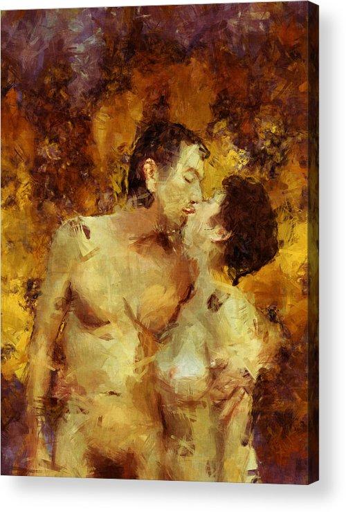 Kiss Acrylic Print featuring the photograph Kiss Me Again by Kurt Van Wagner