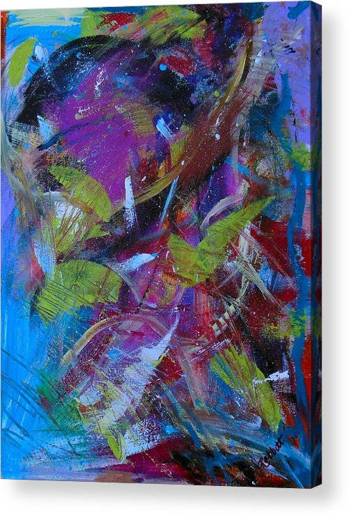 Abstract Acrylic Print featuring the painting Mix-it-in Fiesta by Arianna Stone