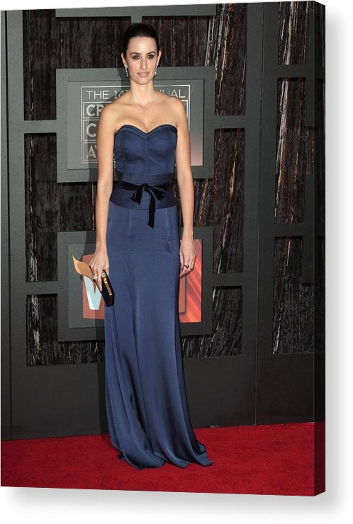14th Annual Critics'' Choice Awards Acrylic Print featuring the photograph Penelope Cruz At Arrivals For 14th by Everett