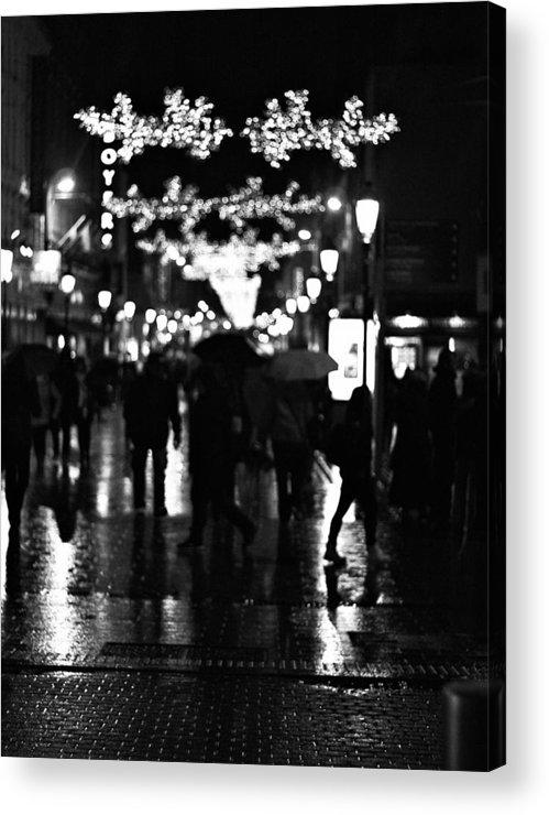 Dublin Acrylic Print featuring the photograph Raining In Dublin by Patrick Horgan