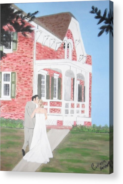 Wedding Acrylic Print featuring the painting Sealed With A Kiss by Colleen Barnhart