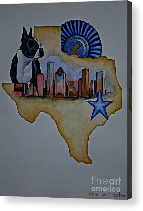 Acrylic Print featuring the painting Texas Bound 3 by Susan Herber