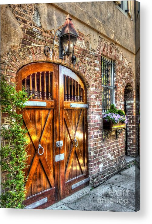 Wood Acrylic Print featuring the photograph The Wooden Doorway by Michael Garyet