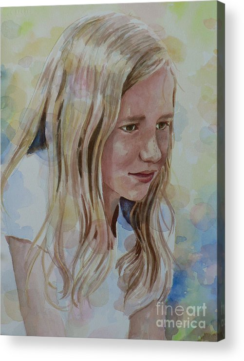 Commission Acrylic Print featuring the painting Thoughtful by Catalina Rankin