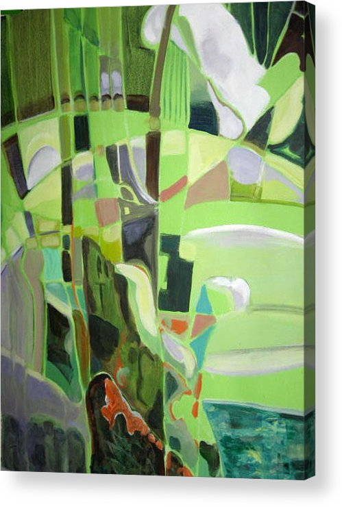 Abstract Acrylic Print featuring the painting Natura Aroma by Therese AbouNader