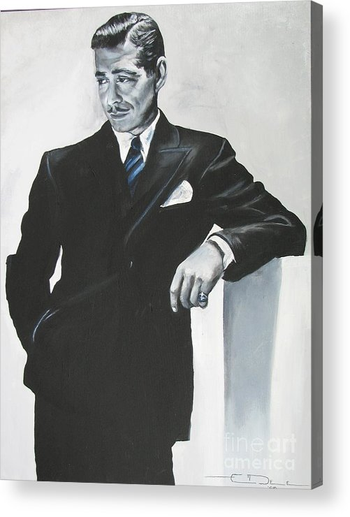 Clark Gable Acrylic Print featuring the painting Clark Gable by Eric Dee