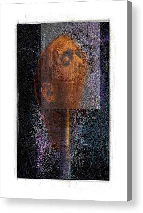 Portrait Acrylic Print featuring the digital art Popper by Nuff