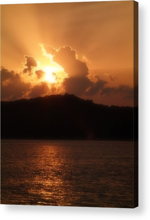 Sunset Acrylic Print featuring the photograph Amber Sun by Carl Perry