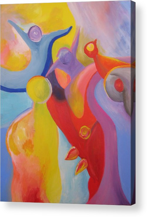 Abstract Acrylic Print featuring the painting An Interdimensional Link by Peter Shor