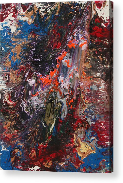 Fusionart Acrylic Print featuring the painting Angel Rising by Ralph White