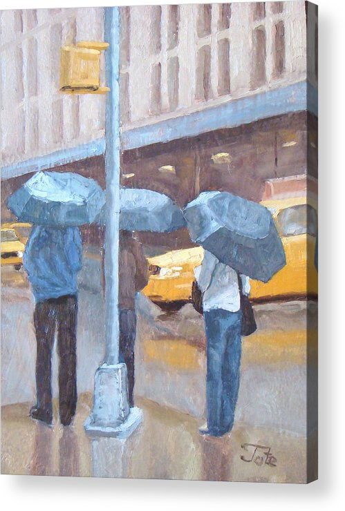 Impressionism Landscape Acrylic Print featuring the painting Another Rainy Day by Tate Hamilton