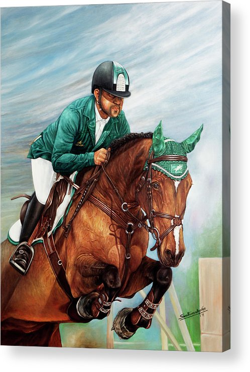 Horse Acrylic Print featuring the painting Arabian Wind by Sethu Madhavan