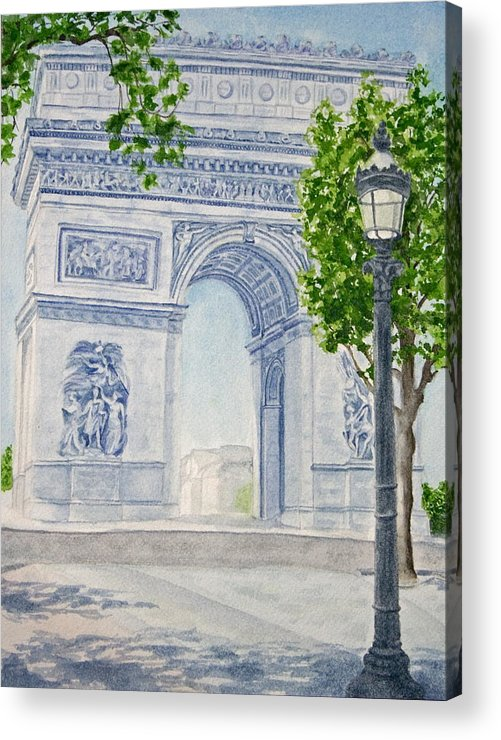 Architecture Acrylic Print featuring the painting Arc De Triomphe by Monika Degan