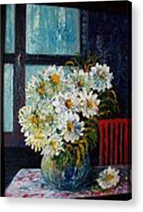 By The Window Acrylic Print featuring the painting At Home by Carol P Kingsley