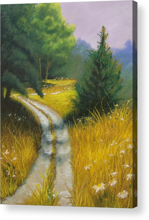 Landscape Acrylic Print featuring the painting Austin's Way by Wynn Creasy