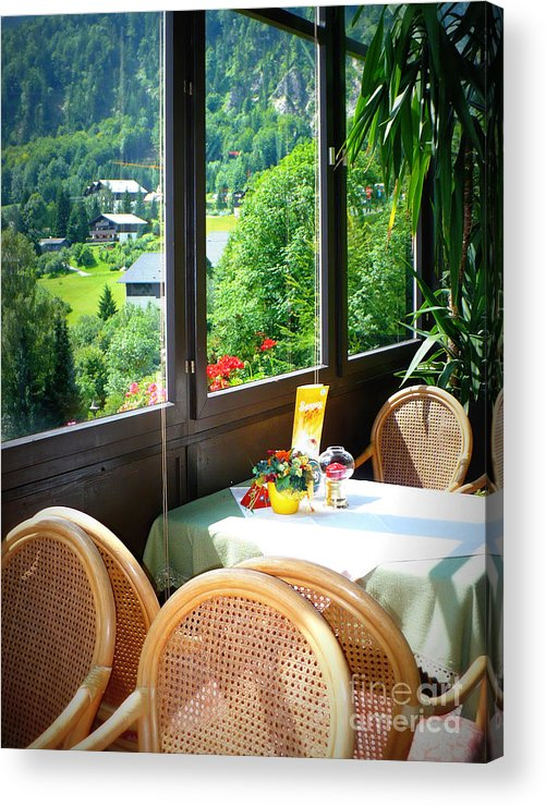 Austria Acrylic Print featuring the photograph Austrian Cafe by Carol Groenen