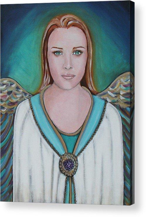 Angel Acrylic Print featuring the painting Avenging Angel by Christy Sobolewski