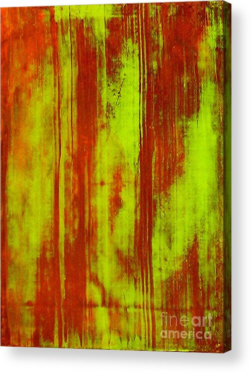 Abstract Art Acrylic Print featuring the painting Bamboo Spy 1 by Teo Santa