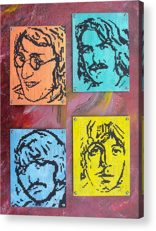 Beatles Acrylic Print featuring the painting Beatles Forever by Cary Singewald