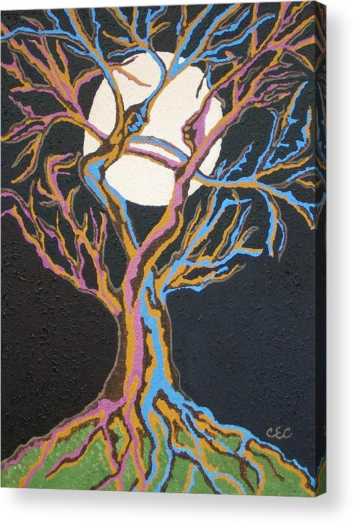 Tree Acrylic Print featuring the painting Beloved by Carolyn Cable