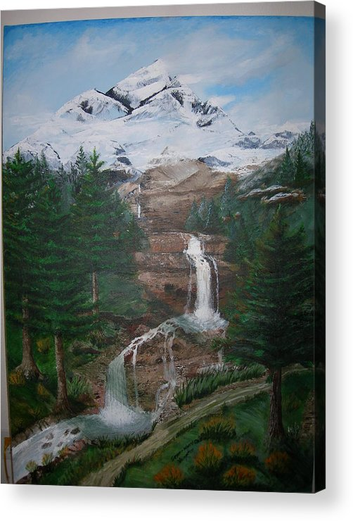 Landscape Acrylic Print featuring the painting Big White One by Jack Hampton