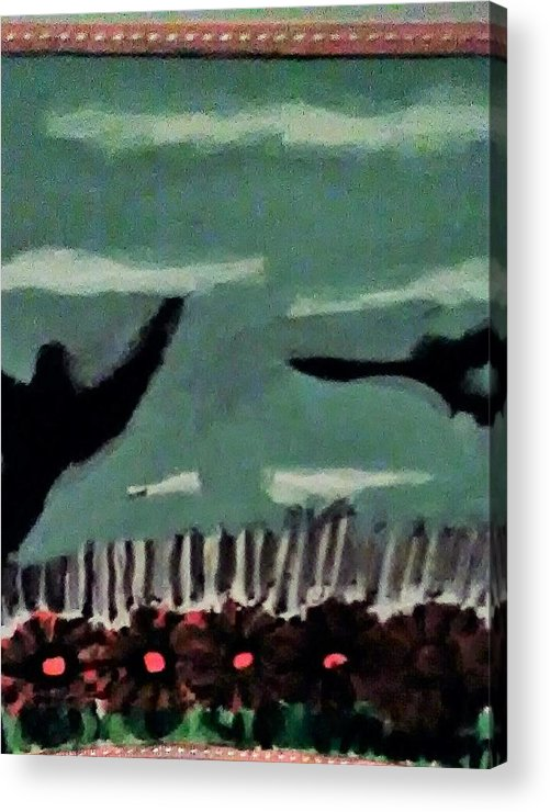 Acrylic Print featuring the painting Bird Flock by Keisha Manley