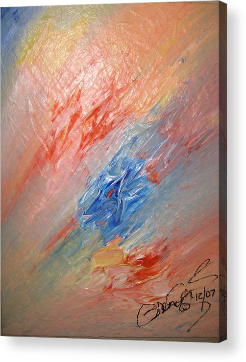 Abstract Acrylic Print featuring the painting Bliss - B by Brenda Basham Dothage