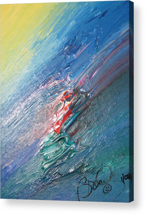 Abstract Acrylic Print featuring the painting Bliss - F by Brenda Basham Dothage