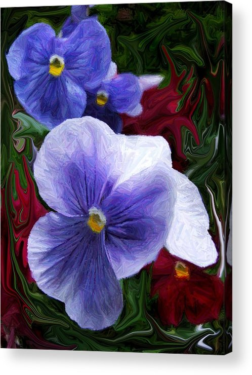 Flower Acrylic Print featuring the photograph Blue Boys by Jim Darnall