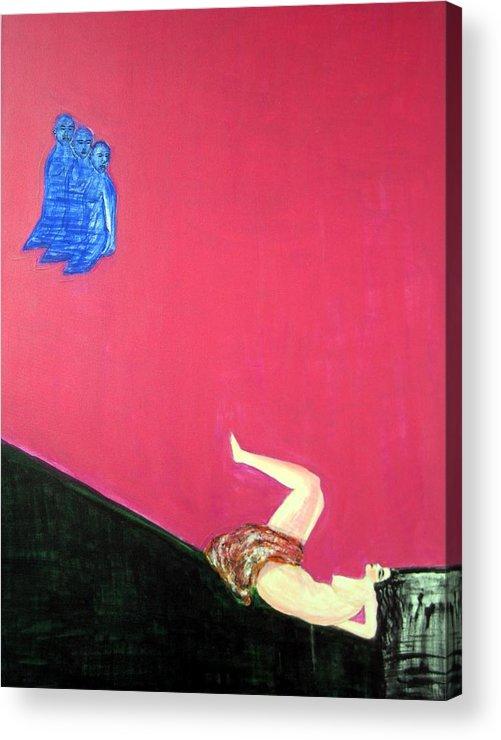 Violence.woman Acrylic Print featuring the painting Broken Dreams by Narayanan Ramachandran