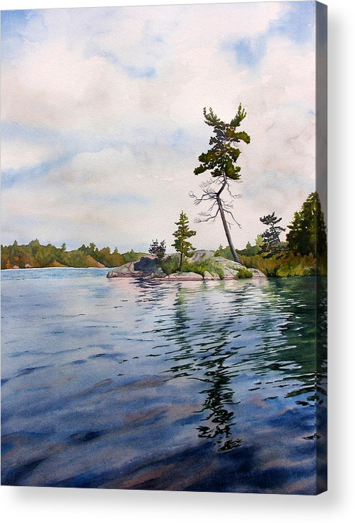 Lake Acrylic Print featuring the painting Canadian Shield Sculpture by Debbie Homewood