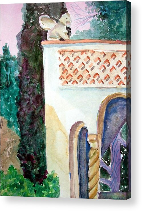 Capri Acrylic Print featuring the painting Capri Sphinx by Mindy Newman