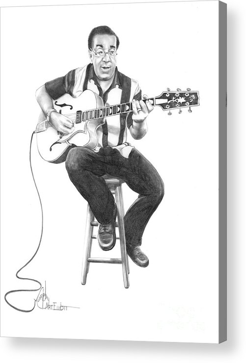 Drawing Acrylic Print featuring the drawing Carmine D'amico by Murphy Elliott
