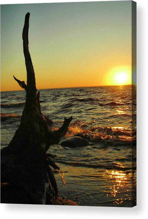Sunset Acrylic Print featuring the photograph Castle On The Watch by Peter Mowry